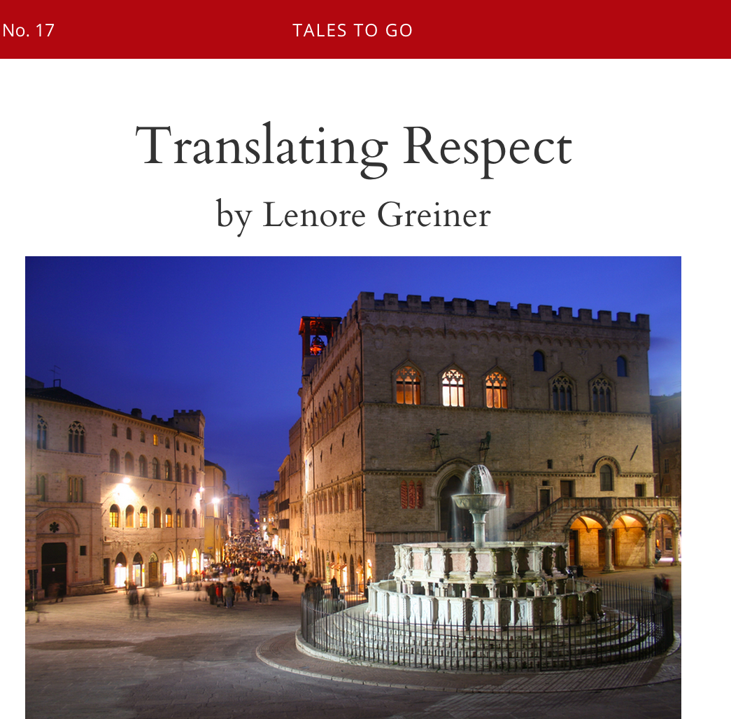 Tales to Go Lenore Greiner Travel Writer